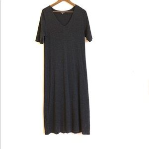 J. Jill Wool Blend Maxi Full Length V-Neck Dress M